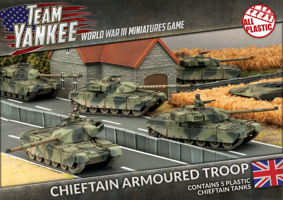 Team Yankee: Chieftan Armoured Troop (Plastic)