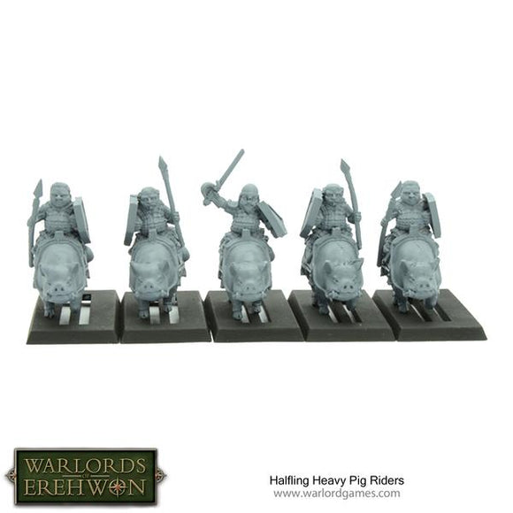 Warlords of Erehwon: Halfling Heavy Pig Riders