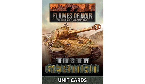FoW: German Unit Cards (Late War x49 cards)