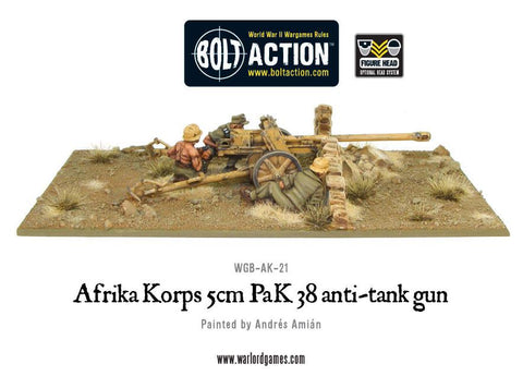 Bolt Action: Afrika Korps 5cm PaK 38 anti-tank gun