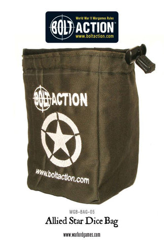 Bolt Action: Allied Star Dice Bag & Dice