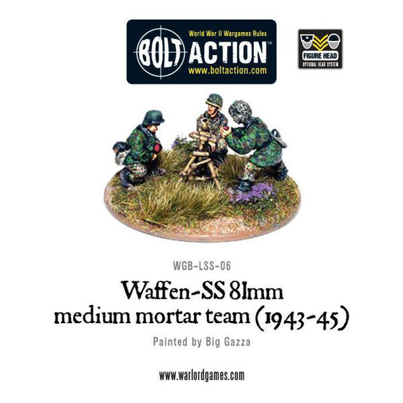 Bolt Action: Waffen-SS 81mm medium mortar team (1943-45)