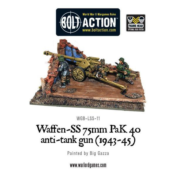 Bolt Action: Waffen-SS 75mm PaK 40 anti-tank gun (1943-45)