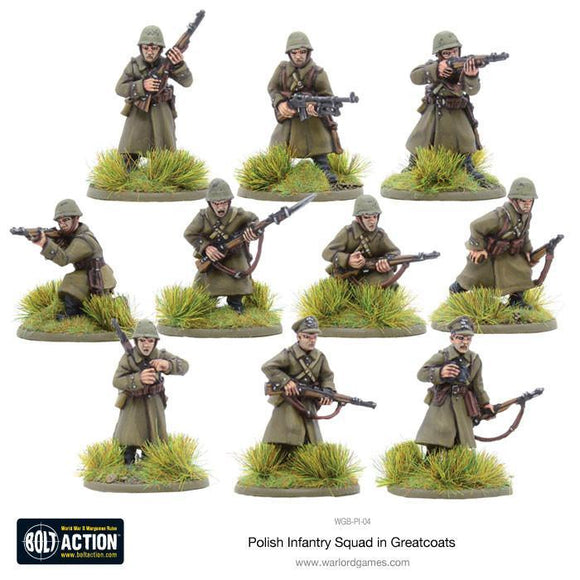 Bolt Action: Polish Infantry Squad in greatcoats