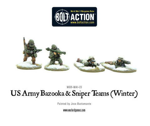 Bolt Action: US Army Bazooka and Sniper teams (Winter)