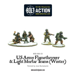 Bolt Action: US Army Flamethrower & Light Mortar teams (Winter)