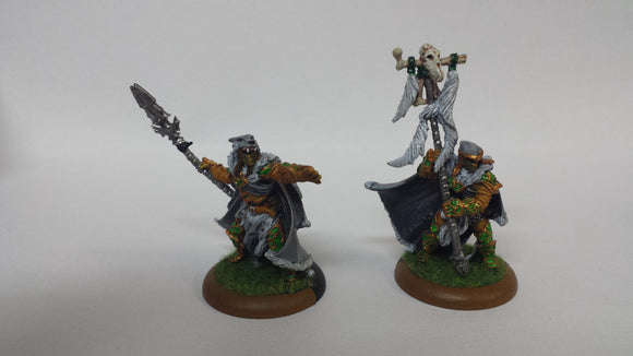 Circle Orboros: Wolves of Orboros Chieftain & Standard (Classic, Painted)