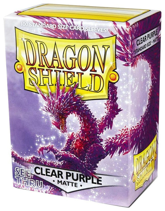 Dragon Shield Card Sleeves: Matte Clear Purple (100)