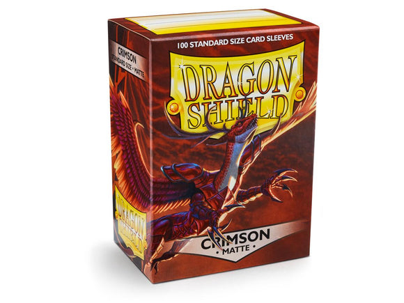 Dragon Shield Card Sleeves: Matte Crimson (100)