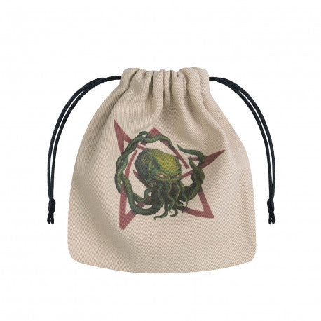 Q-workshop: Call of Cthulhu Beige & multicolor Dice Bag