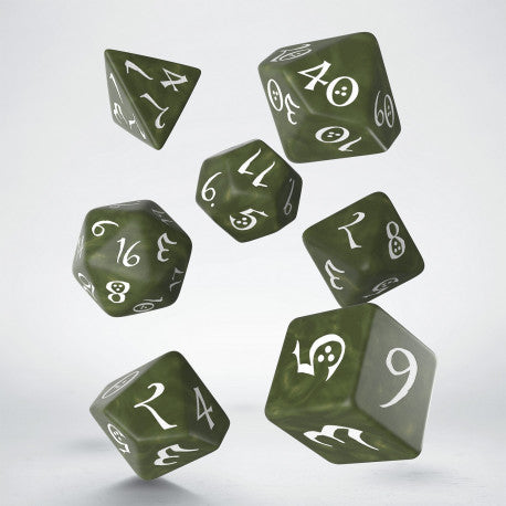 Q-workshop: Classic RPG Olive & White Dice Set (7)