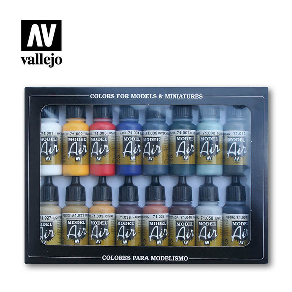 Vallejo Model Air Set - Basic Colors (x16)