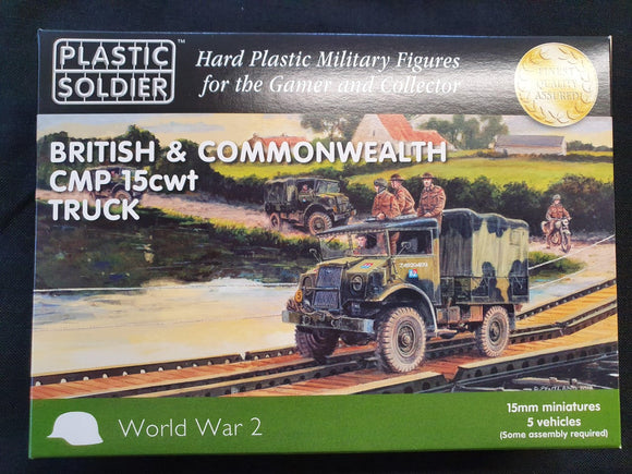 Plastic Soldier Company: 15mm British and Commonwealth CMP 15cwt truck