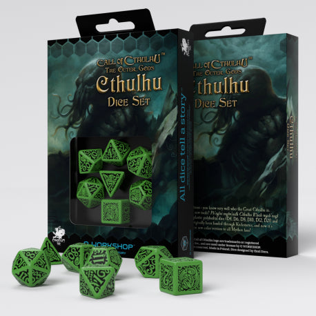 Q-workshop: Call of Cthulhu The Outer Gods Cthulhu Dice Set (7)