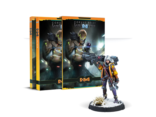 Infinity N4 Rulebook with Oktavia Grimsdóttir, Icebreaker Harpooner Exclusive Mini