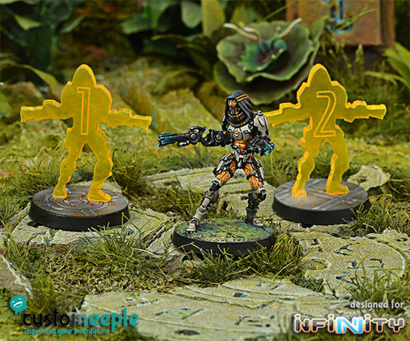 Customeeple: Infinity Kotail Holoechoes (2 units) - Fluor Yellow