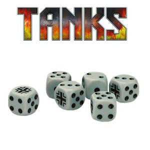 TANKS German Dice Set (6 Dice)
