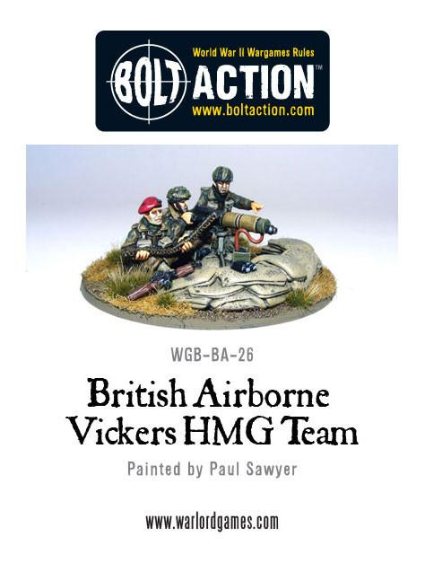 Bolt Action: British Airborne Vickers MMG Team