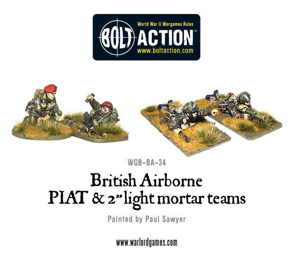 Bolt Action: British Airborne PIAT and Light Mortar teams