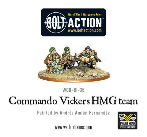 Bolt Action: British Commando Vickers MMG Team