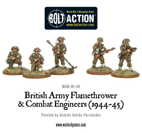 Bolt Action: British Flamethrower & Combat Engineers