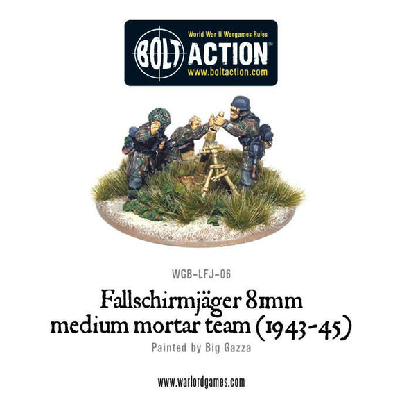 Bolt Action: Fallschirmjager 81mm medium mortar team (1943-45)