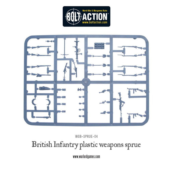 Bolt Action: British Weapon Sprue