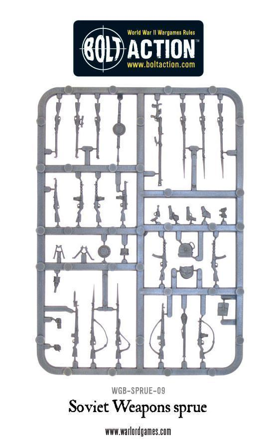 Bolt Action: Soviet weapons sprue