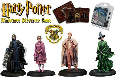 Harry Potter Miniatures 35 mm 4-pack Hogwarts Professors
