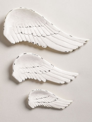 Angel wing plaques - set of three