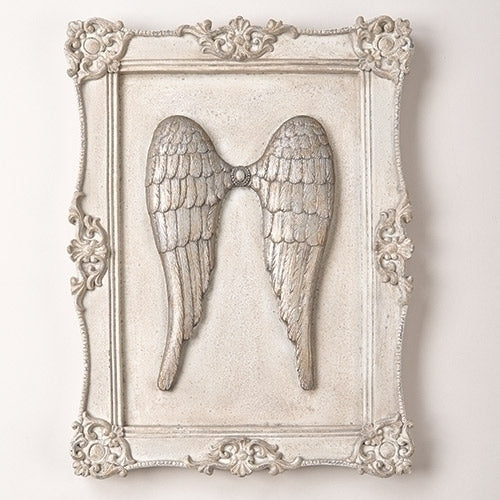 Silver wing wall decor
