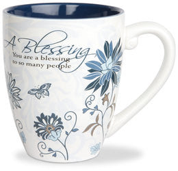 A Blessing colourful mug
