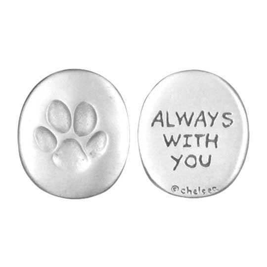 Always With You pawprint coin