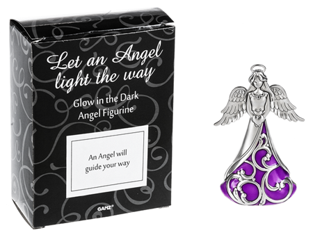 An angel will guide your way - glow in the dark angel