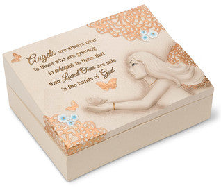 Angels Are Always Near memorial keepsake box