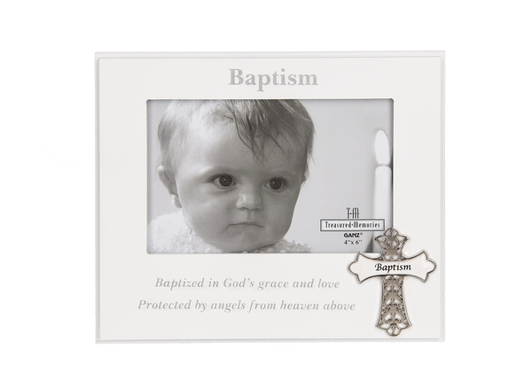 Baptism commemoration picture frame