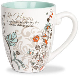 Be Happy colourful mug