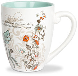 Believe colourful mug