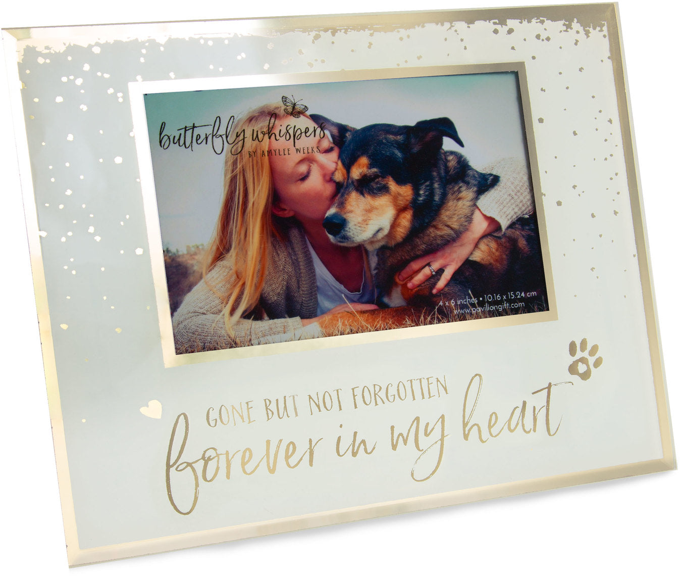 Butterfly Whispers - Forever in My Heart pet memorial frame