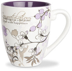 Congratulations colourful mug