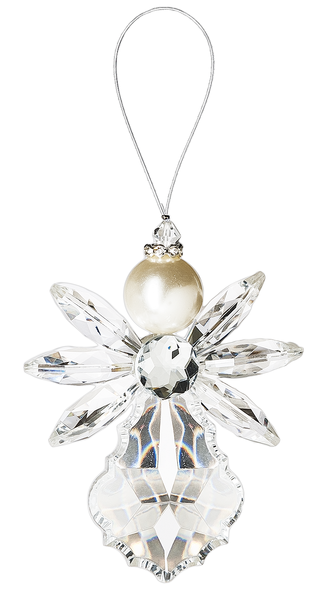 Crystal Angel - hanging acrylic angel ornament Clear