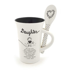 Daughter - mug and spoon set by Marci
