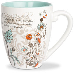 Happy Birthday colourful mug