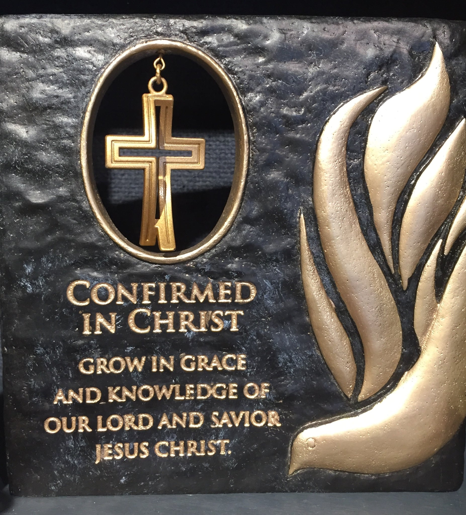 Confirmed in Christ Plaque with Cross