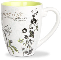 Love Life colourful mug