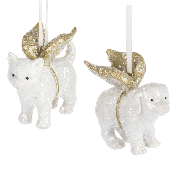 Christmas angel dog and cat tree ornaments (single)