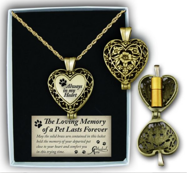 Loving Memory - Locket for Ashes - Pet Memorial