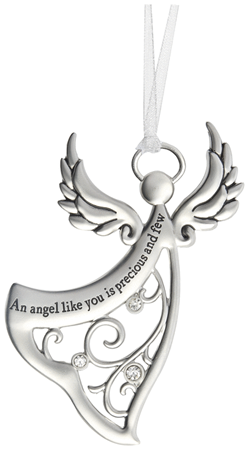 An angel like you is precious and few - zinc ornament