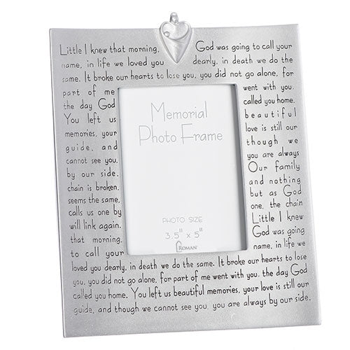 Broken Chain poem - memorial pewter frame
