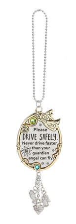 Please Drive Safely. Never drive faster car charm